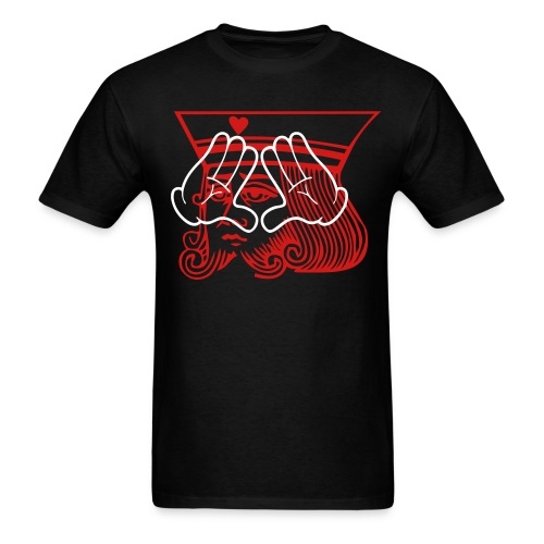 King Of Hearts / Mickey Hands (infusion) [RED/WHT] - Men's T-Shirt
