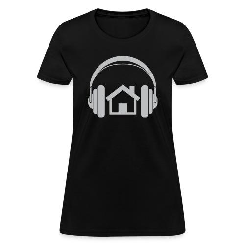 Nothin' But House Tee - Women's (Black) - Women's T-Shirt