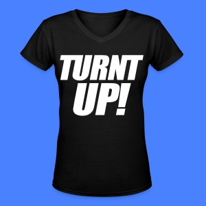 Turnt Up Women's T-Shirts - stayflyclothing.com - Women's V-Neck T-Shirt