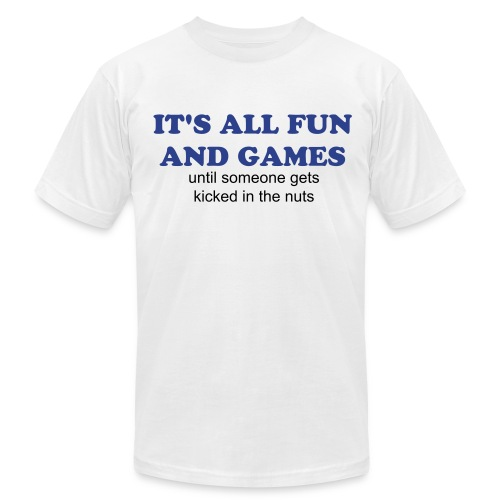 It's all fun and games - Men's Fine Jersey T-Shirt