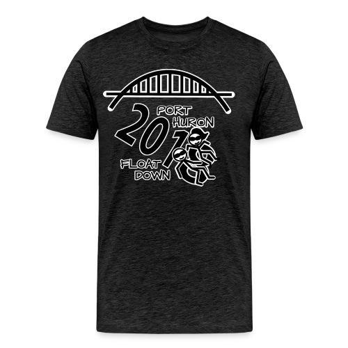 Port Huron Float Down 2018 Shirt - Black and White - Men's Premium T-Shirt