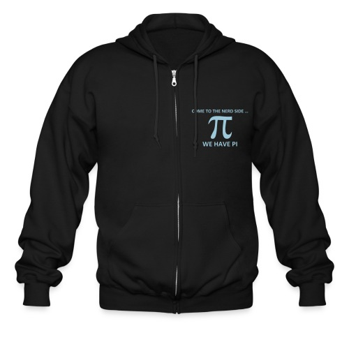 Math, Come to the nerd side, we have Pi - Men's Zip Hoodie