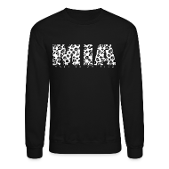 Long Sleeve Shirts ~ Crewneck Sweatshirt ~ MIA White Leopard Crew