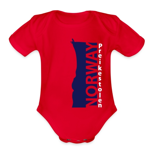 Preikestolen NORWAY HQ. Cliff Ed. SERIES - Organic Short Sleeve Baby Bodysuit