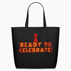 READY to celebrate with symbol of party hat Bags & backpacks