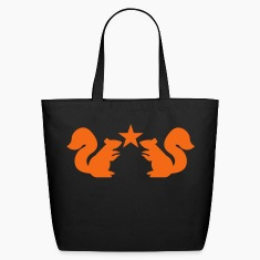 squirrels emblem cute with star rampant Bags & backpacks