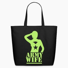 Sexy lady ARMY wife saluting Bags & backpacks