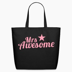 MRS AWESOME with a sexy pink star Bags & backpacks