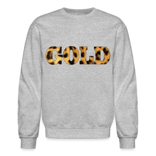 Gold Leopard Print Crewneck - Crewneck Sweatshirt