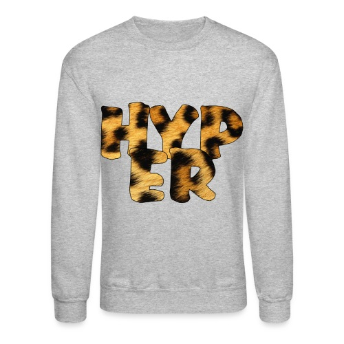 Hyper Leopard Print Crewneck - Crewneck Sweatshirt