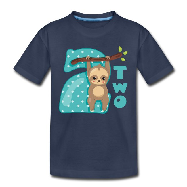 Baby Sloth 2nd Birthday T Shirt