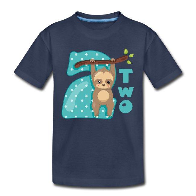 Baby Sloth 2nd Birthday T Shirt