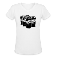 T-Shirts ~ Women's V-Neck T-Shirt ~ Women's White
