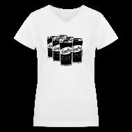 Women's T-Shirts ~ Women's V-Neck T-Shirt ~ Women's White