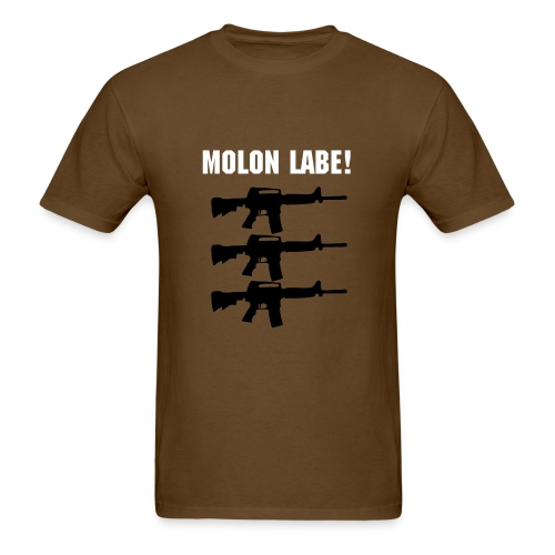 Men's T-Shirt - Molon labe is Greek for Come and take them! The history of the phrase is very fascinating!