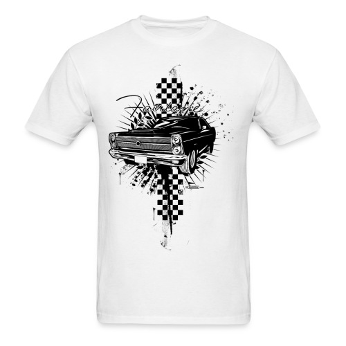 Erhabi. Black & White - Ford Fairlane T-Shirt - Men's T-Shirt