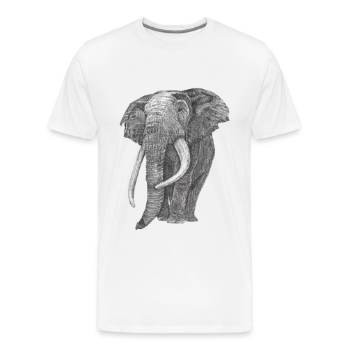 Big five elephant - Men's Premium T-Shirt