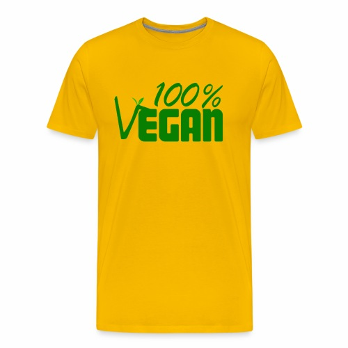 100% Vegan - Men's Premium T-Shirt
