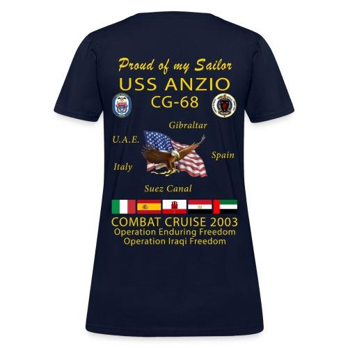 USS ANZIO CG-68 2003 WOMENS CRUISE SHIRT - FAMILY - Women's T-Shirt