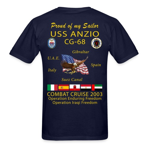 USS ANZIO CG-68 2003 CRUISE SHIRT - FAMILY - Men's T-Shirt