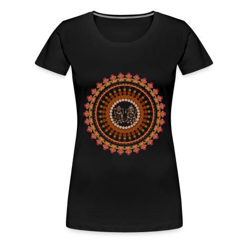 Lord Ganesha & Goddess Lakshmi T-shirt  - Women's Premium T-Shirt