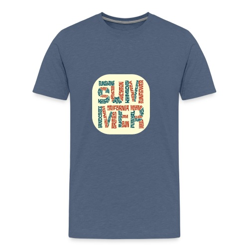 Summer Word Text Cloud - Men's Premium T-Shirt