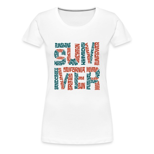 Summer Word Text Cloud - Women's Premium T-Shirt