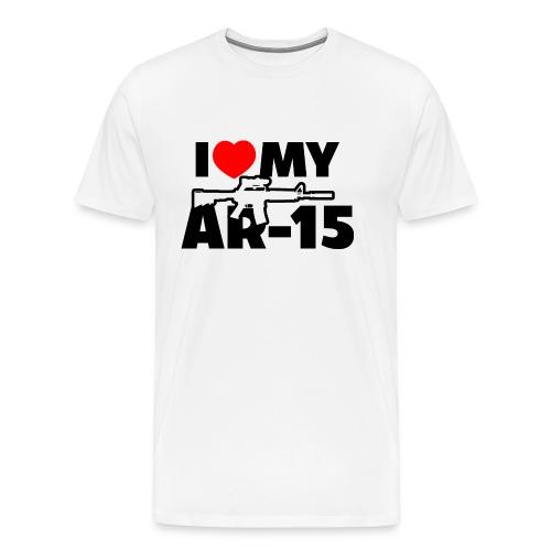 I LOVE MY AR-15 - Men's Premium T-Shirt