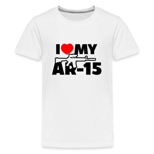 I LOVE MY AR-15 - Kids' Premium T-Shirt