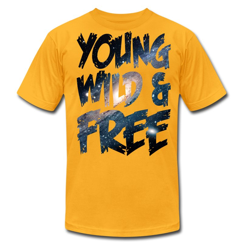 Young Wild & Free - Men's T-Shirt by American Apparel