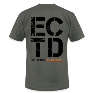 Dirty Minds Racing Shirt with ECTD logo - Men's T-Shirt by American Apparel