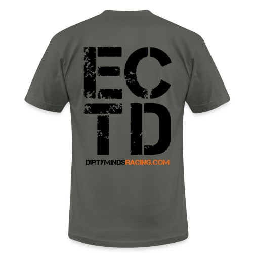Dirty Minds Racing Shirt with ECTD logo - Men's  Jersey T-Shirt