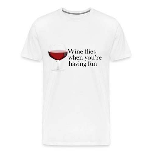 wine flies - Men's Premium T-Shirt