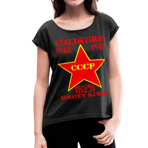 Mamayev Kurgan - Women's Roll Cuff T-Shirt