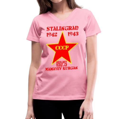 Mamayev Kurgan - Women's V-Neck T-Shirt