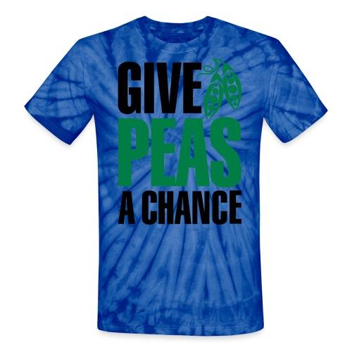 Give Peas A Chance Tie Dye Shirt - Unisex Tie Dye T-Shirt