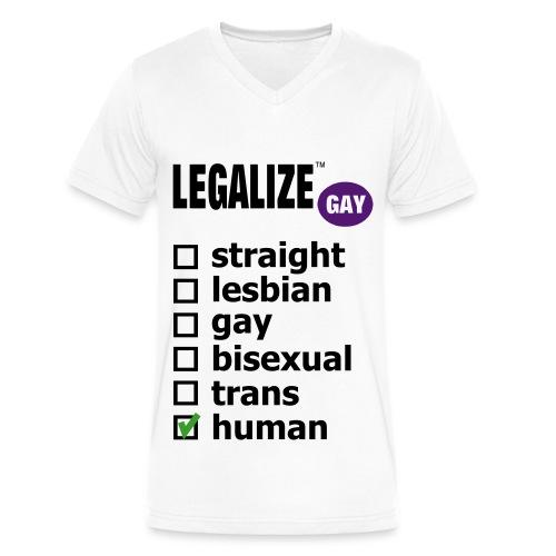 LGBTQ Pride shirt | Men's V-neck - Men's V-Neck T-Shirt by Canvas