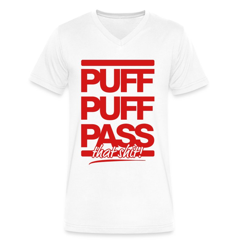 Puff & Pass - Men's V-Neck T-Shirt by Canvas