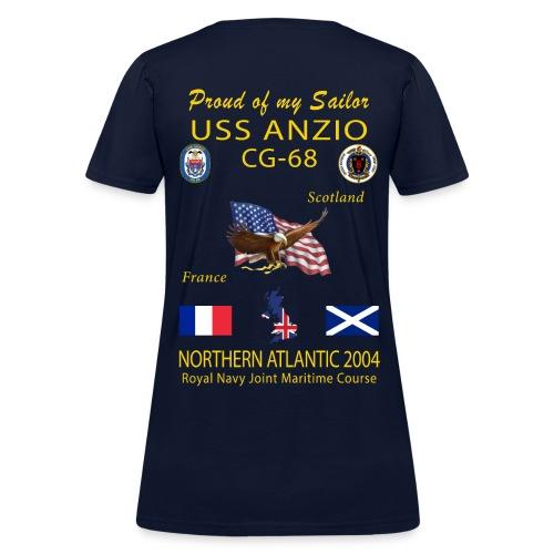 USS ANZIO CG-68 2004 WOMENS CRUISE SHIRT - FAMILY - Women's T-Shirt