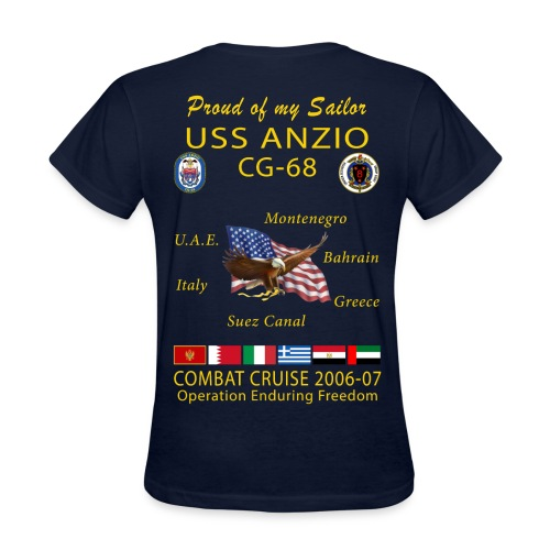 USS ANZIO CG-68 2006-07 WOMENS CRUISE SHIRT - FAMILY - Women's T-Shirt