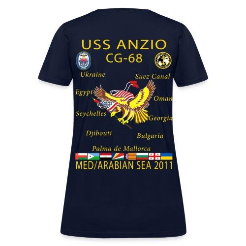 USS ANZIO CG-68 2011 WOMENS CRUISE SHIRT - Women's T-Shirt