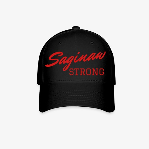 Saginaw Strong - Red Text - Baseball Cap