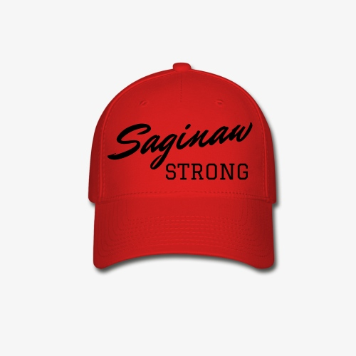 Saginaw Strong - Black Text - Baseball Cap
