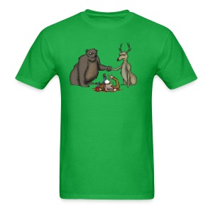 A Bear Bro-Fisting a Deer - Men's T-Shirt