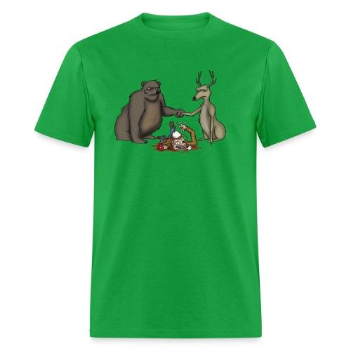 A Bear Bro-Fisting a Deer - Men's T-Shirt