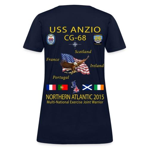 USS ANZIO CG-68 2015 WOMENS CRUISE SHIRT - Women's T-Shirt