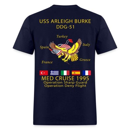 USS ARLEIGH BURKE 1995 CRUISE SHIRT  - Men's T-Shirt