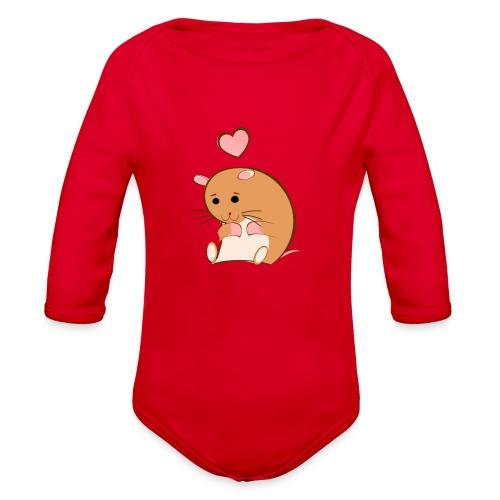 HAPPY HAMSTER - Organic Long Sleeve Baby Bodysuit