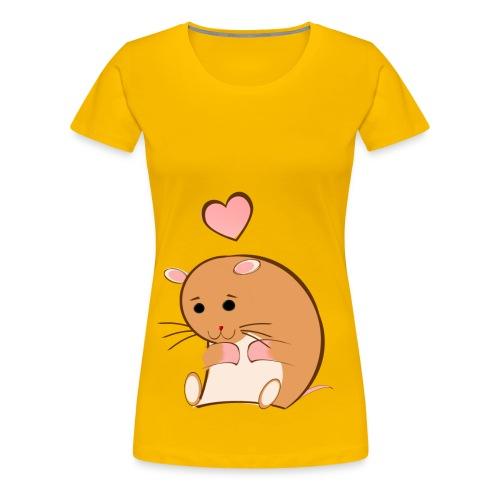 HAPPY HAMSTER - Women's Premium T-Shirt