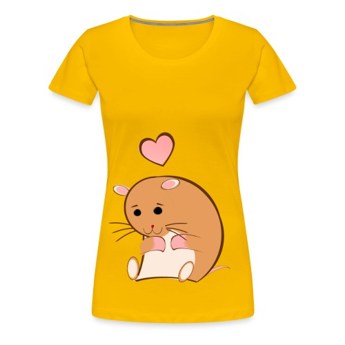 HAPPY HAMSTER - Women's Premium T-Shirt